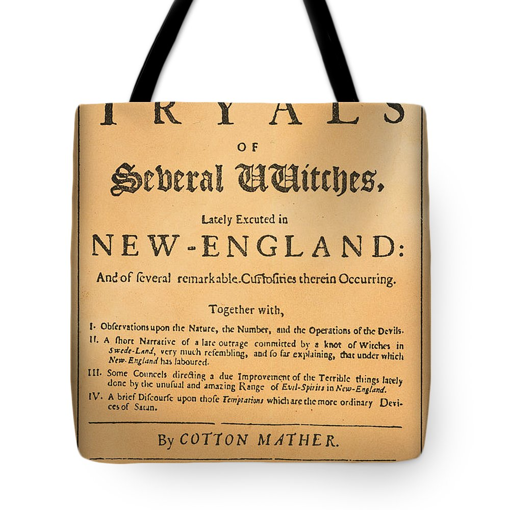 1693 Tote Bag featuring the photograph Cotton Mather, 1693 by Granger