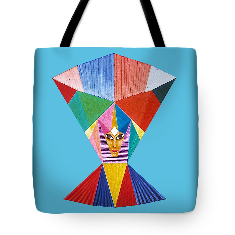 Contemporaryart Tote Bag featuring the painting Countenance by Michael Bellon
