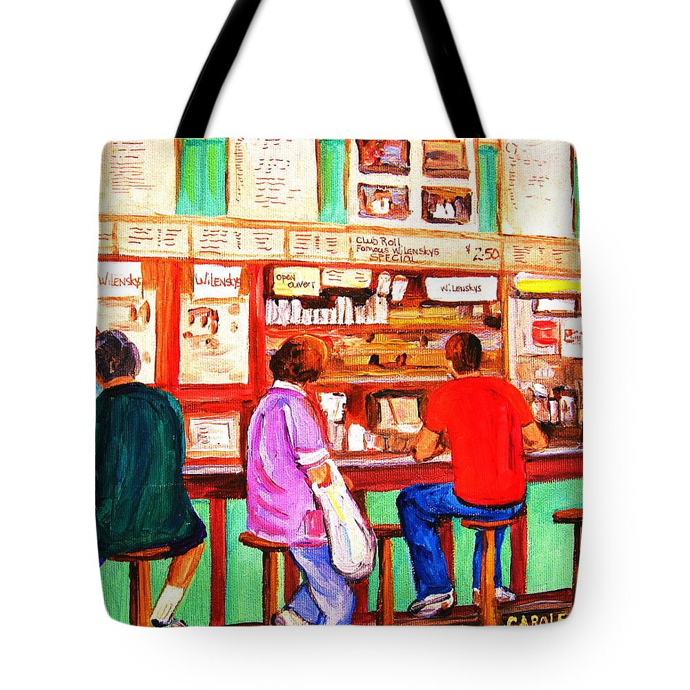 Montreal Tote Bag featuring the painting Counter Culture by Carole Spandau