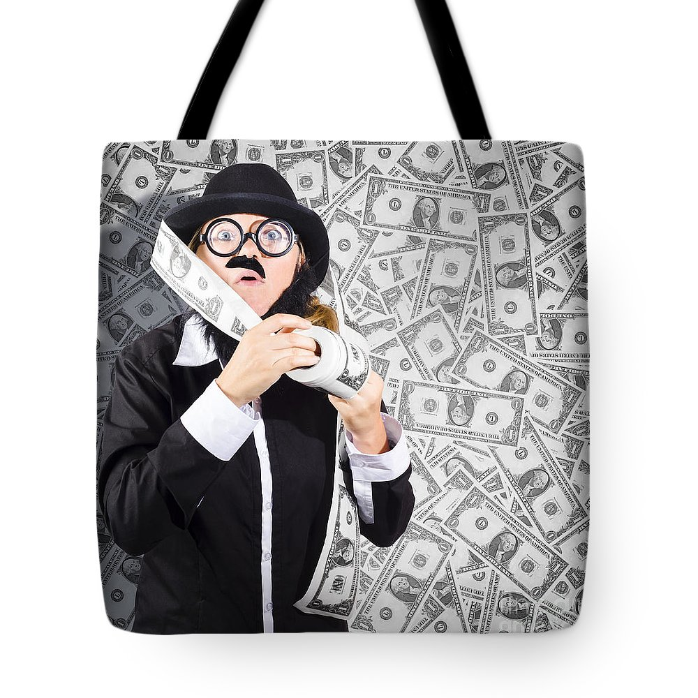 American Tote Bag featuring the photograph Counterfeit Printing Rolls Of American Money by Jorgo Photography - Wall Art Gallery
