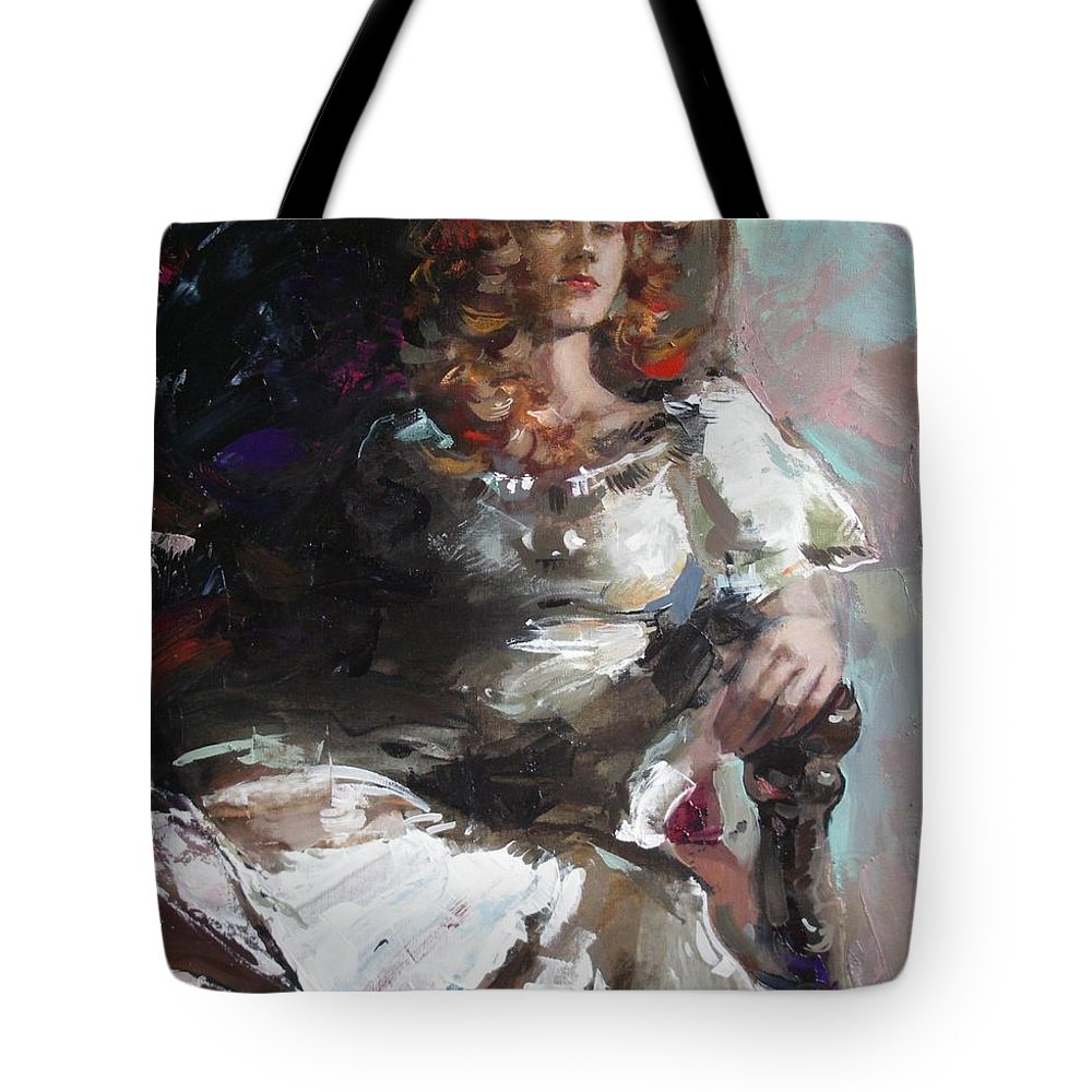 Ignatenko Tote Bag featuring the painting Countess by Sergey Ignatenko