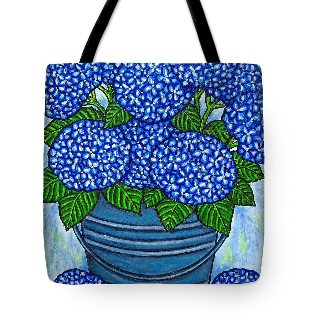 Blue Tote Bag featuring the painting Country Blues by Lisa Lorenz