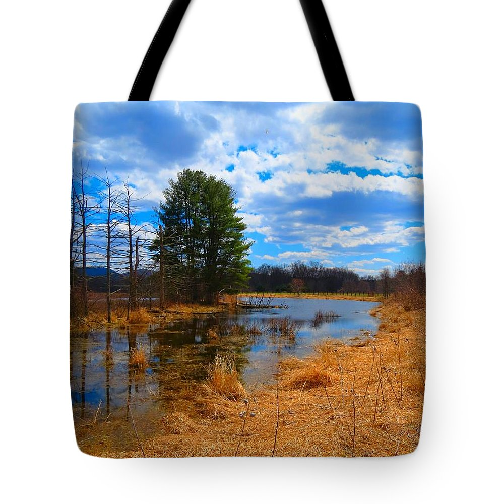 Landscape Tote Bag featuring the photograph Country Clouds by MTBobbins Photography