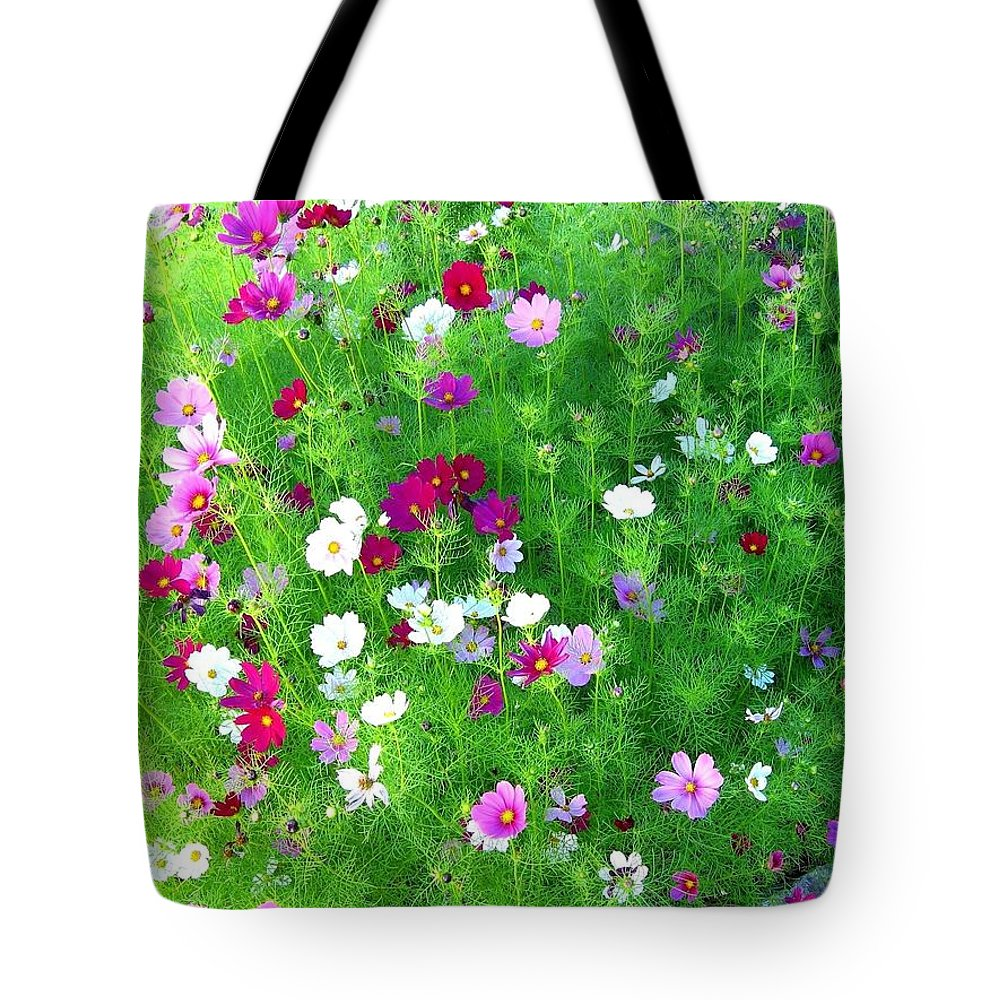 Cosmos Tote Bag featuring the photograph Country Cosmos by Will Borden
