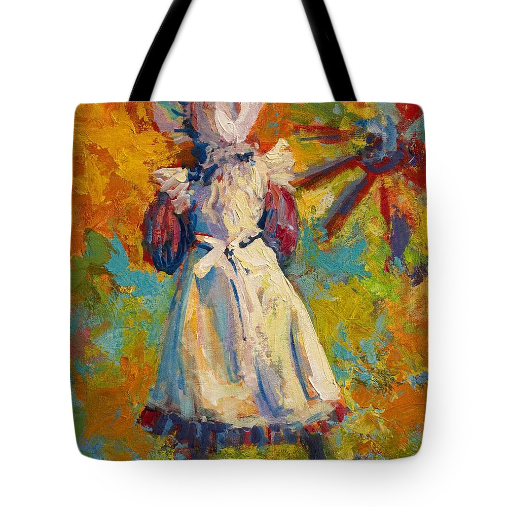 Figure Tote Bag featuring the painting Country Girl by Marion Rose