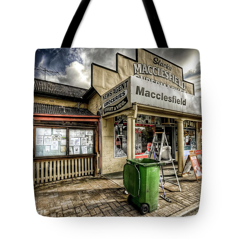 Grocer Tote Bag featuring the photograph Country Grocer by Wayne Sherriff