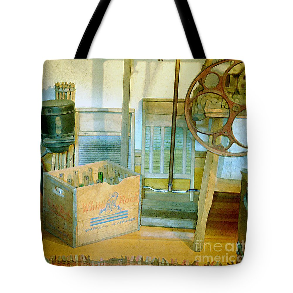 Kitchen Tote Bag featuring the painting Country Kitchen Sunshine II by RC deWinter
