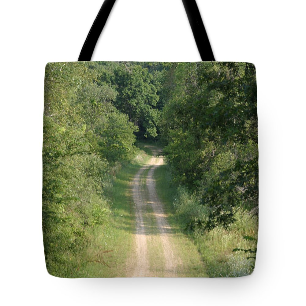 Gravel Tote Bag featuring the photograph Country Lane by Bjorn Sjogren