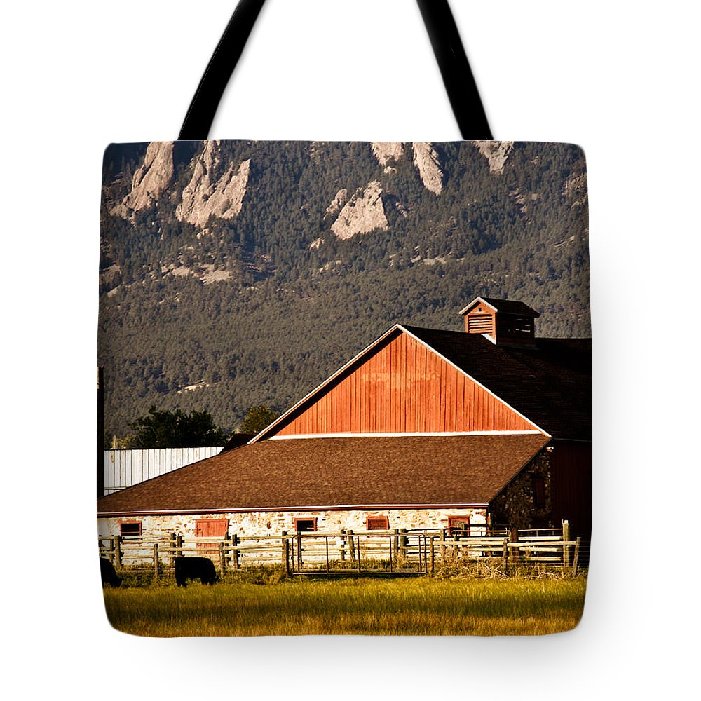 Americana Tote Bag featuring the photograph Country Living Boulder County by Marilyn Hunt