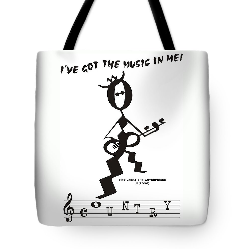 Tote Bag featuring the digital art Country by Maria Watt