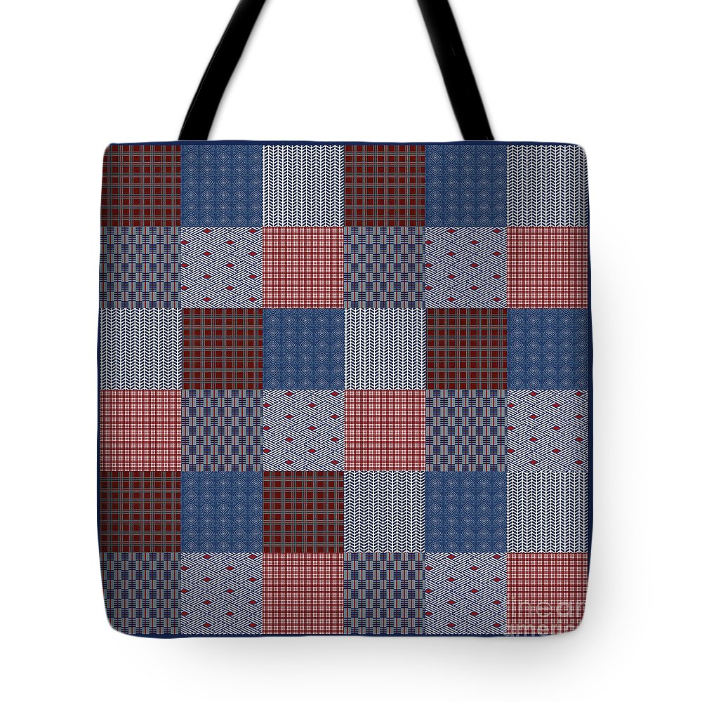 Quilt Tote Bag featuring the digital art Country Quilt by Jean Plout