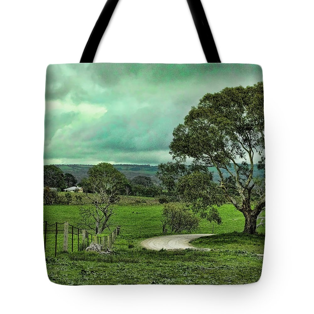 Dirt Road Tote Bag featuring the photograph Country Road by Douglas Barnard