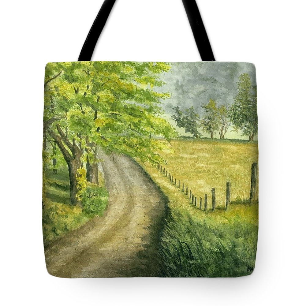 Country Tote Bag featuring the painting Country Road by Mary Tuomi