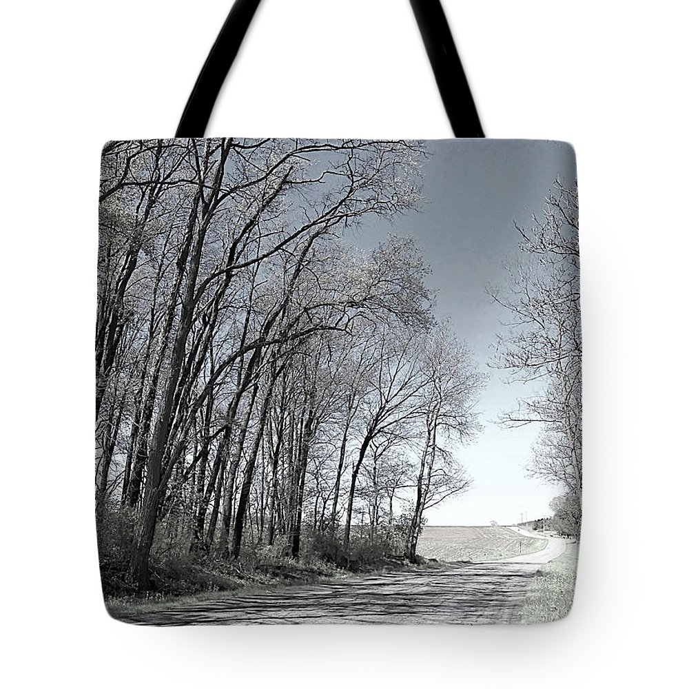 Country Tote Bag featuring the photograph Country Road by Monnie Ryan
