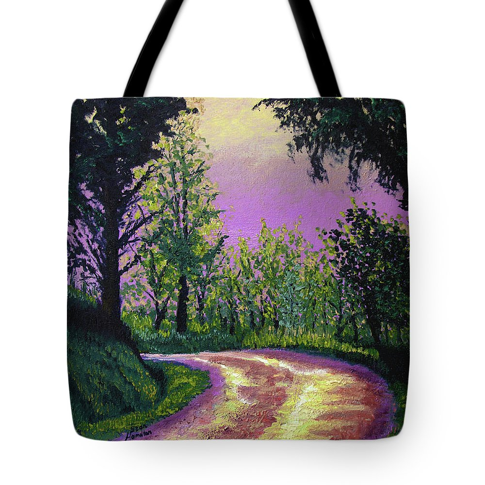 Landscape Tote Bag featuring the painting Country Road by Stan Hamilton