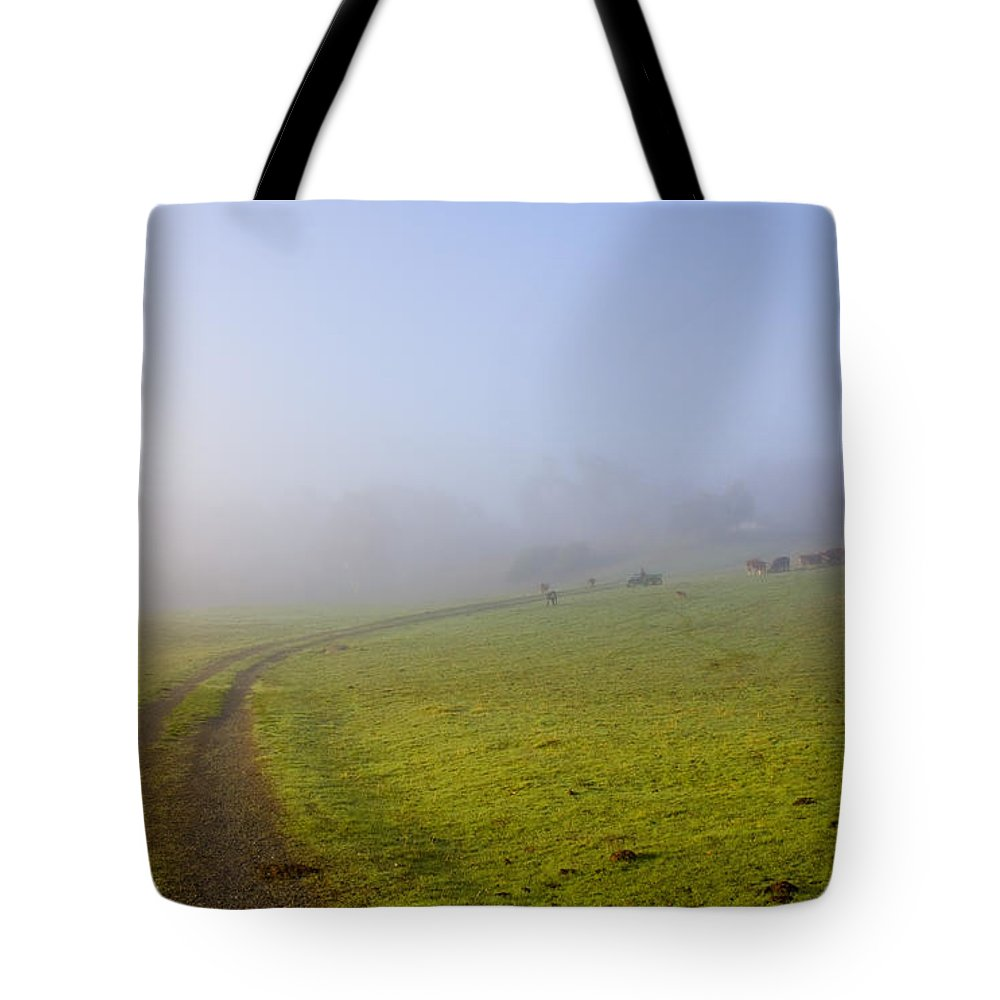 Road Tote Bag featuring the photograph Country Roads by Mike Dawson