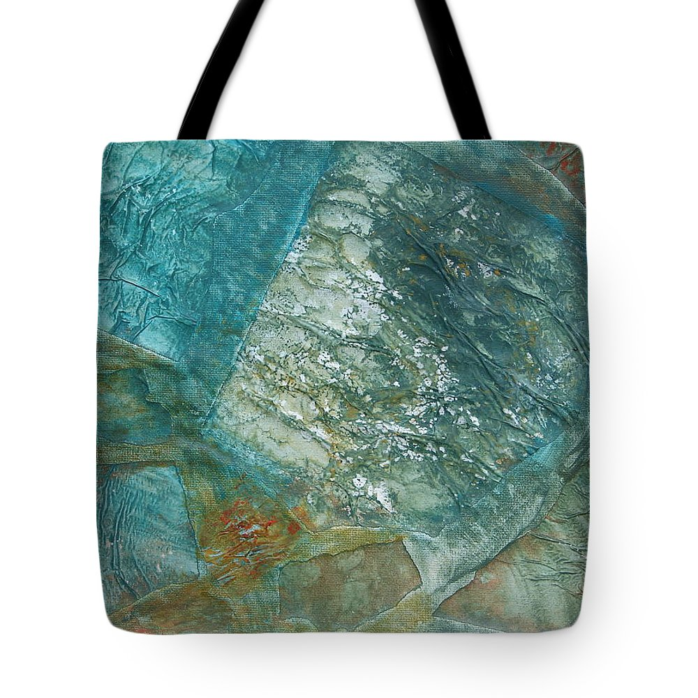 Landscape Tote Bag featuring the painting Country Side by Rivka Waas
