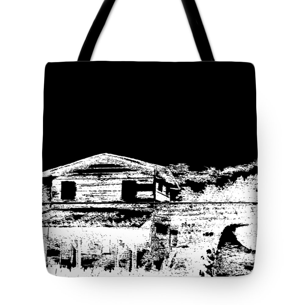 Pallet Tote Bag featuring the painting Country Store by Ashley Galloway