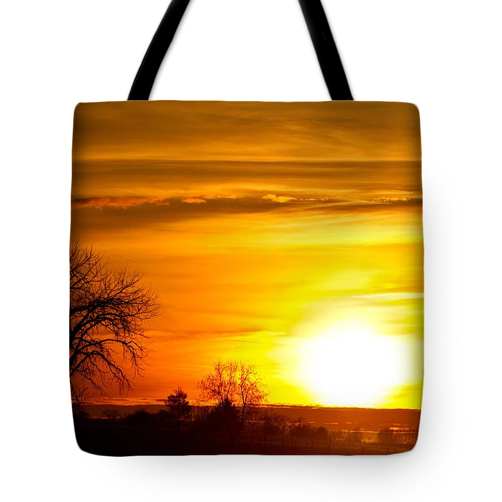 canvas Print Tote Bag featuring the photograph Country Sunrise 1-27-11 by James BO Insogna