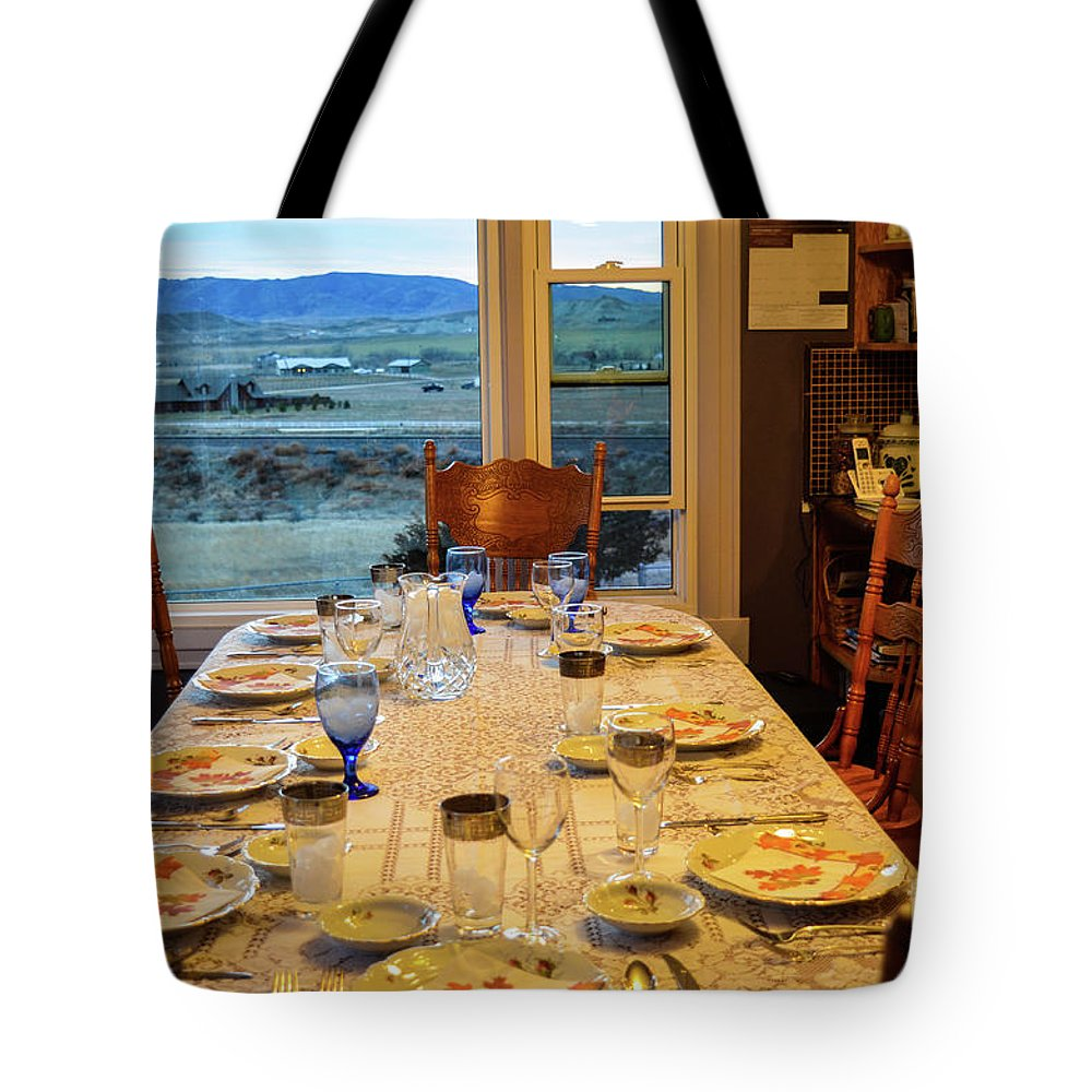 Indoors Tote Bag featuring the photograph Country Table Setting by James Stewart