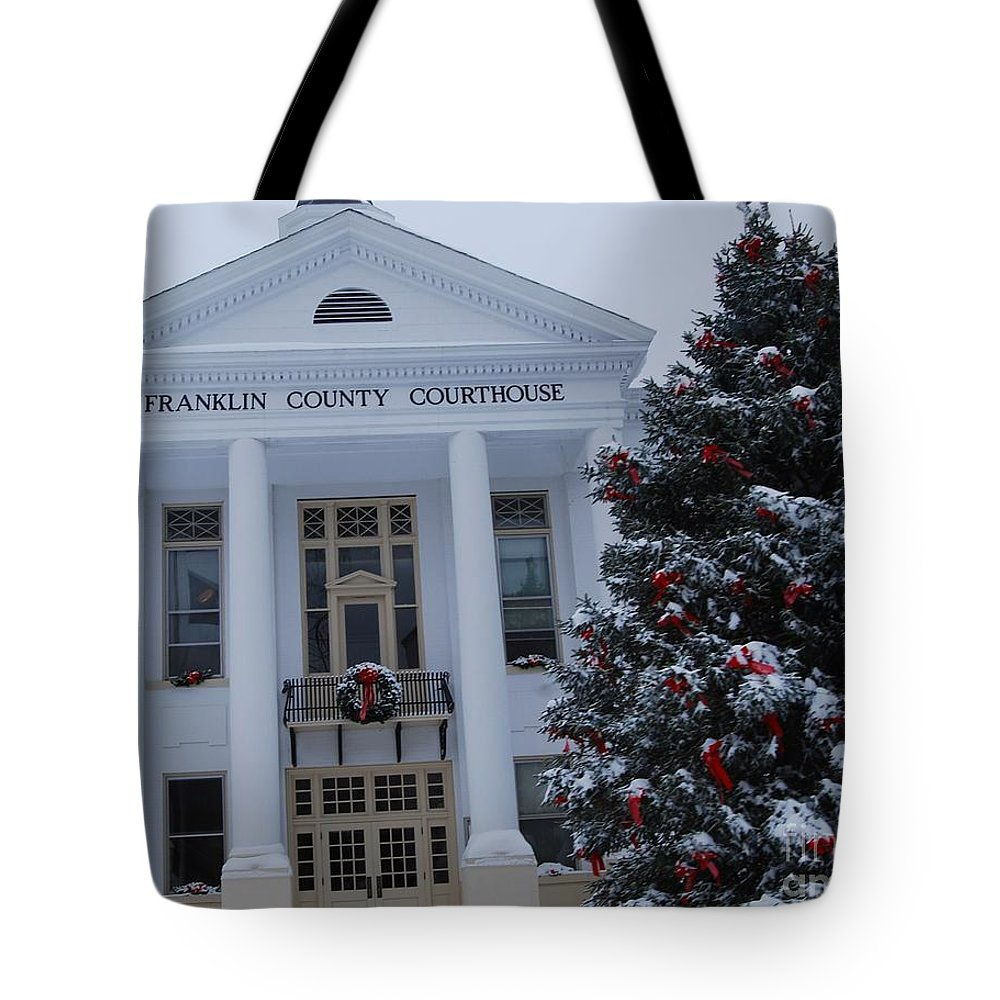Christmas Tote Bag featuring the photograph Court Dismissed by Eric Liller