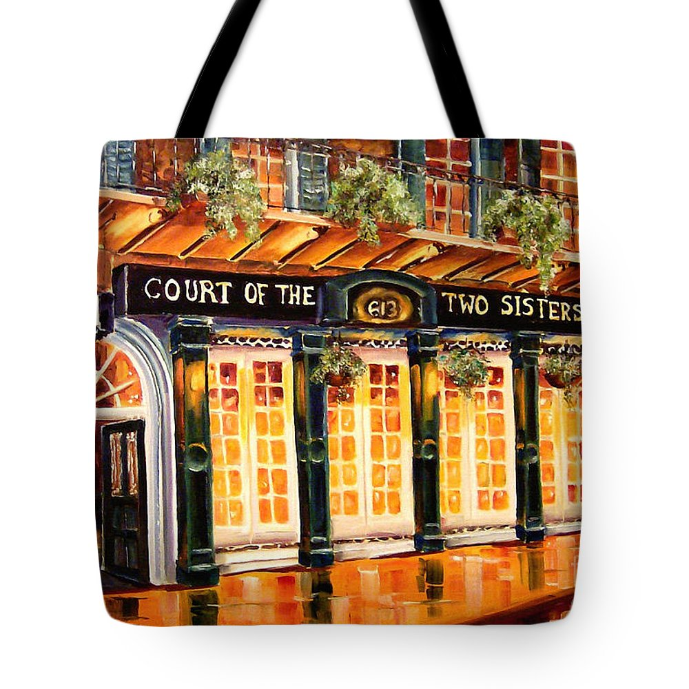 New Orleans Tote Bag featuring the painting Court Of The Two Sisters by Diane Millsap