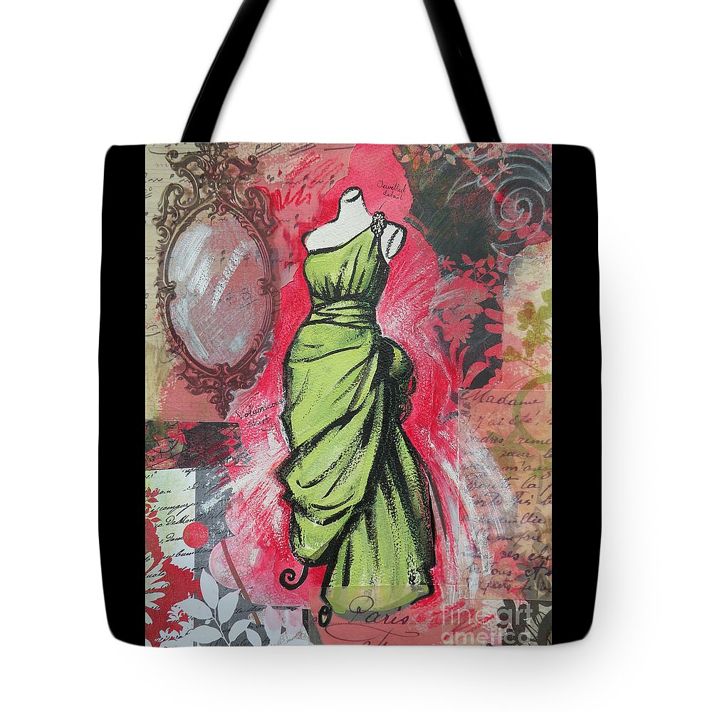 Fashion Tote Bag featuring the painting Couture II by Leigh Banks