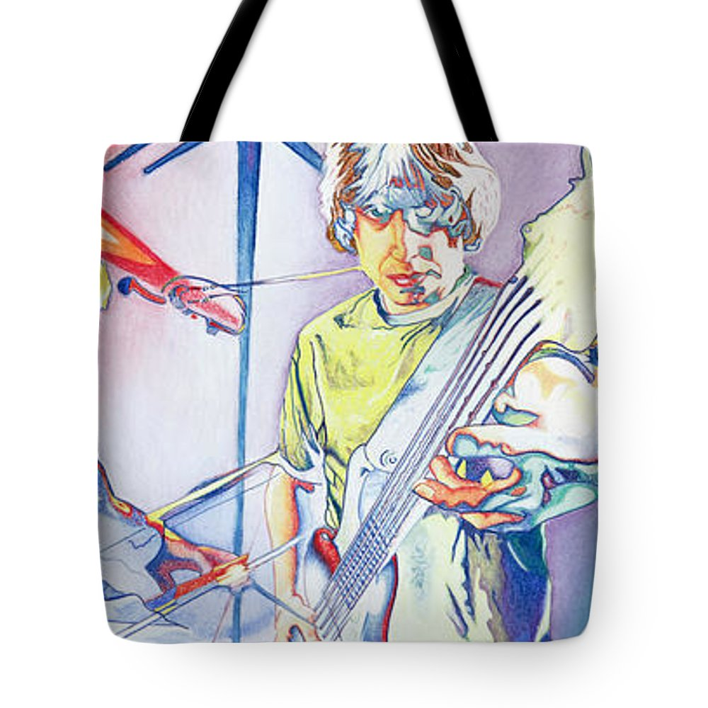 Phish Tote Bag featuring the drawing Coventry Phish by Joshua Morton