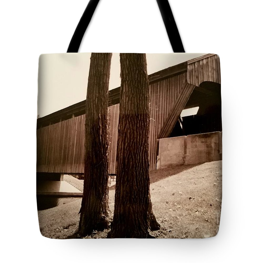 Photograph Tote Bag featuring the photograph Covered Bridge Southern Indiana by Scott D Van Osdol