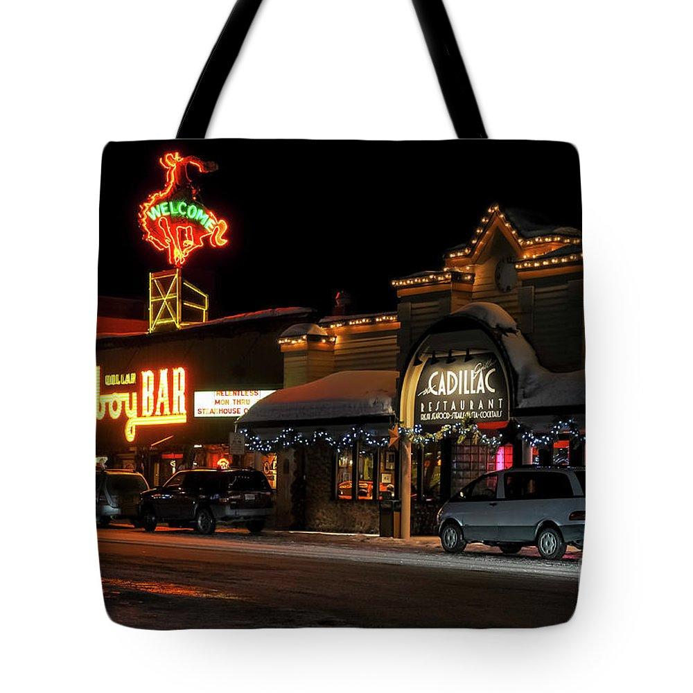Cowboy Bar Tote Bag featuring the photograph Cowboy Bar by Bob Phillips