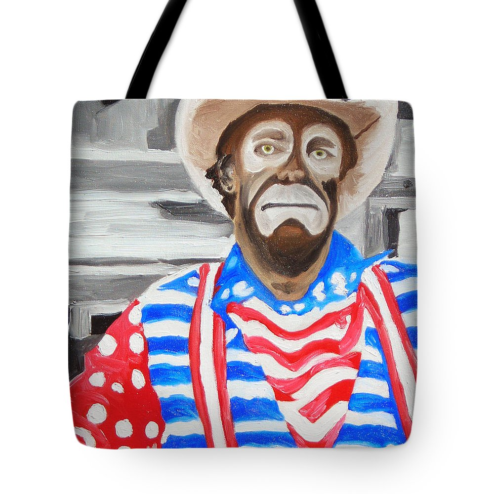 Rodeo Tote Bag featuring the painting Cowboy Savior by Michael Lee