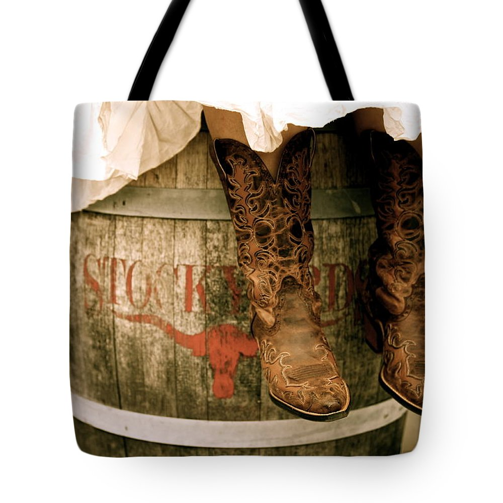 f1e73275deee2 Cowgirl Boots Tote Bag