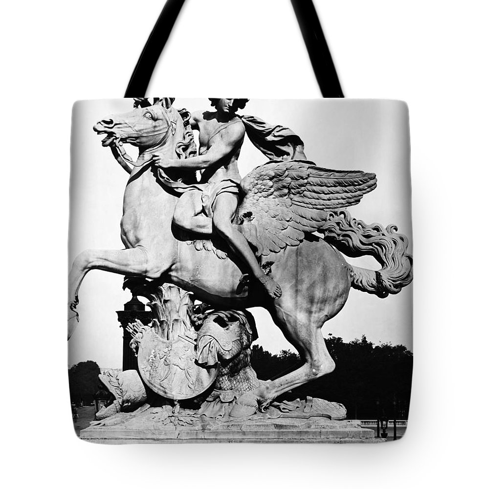 1699 Tote Bag featuring the photograph Coysevox: Mercury & Pegasus by Granger
