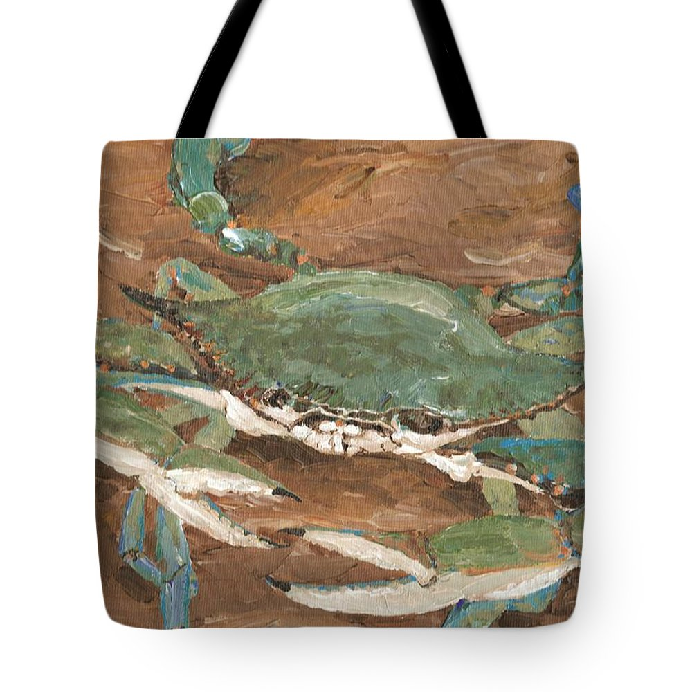Crab Tote Bag featuring the painting Crab Season by Keith Wilkie