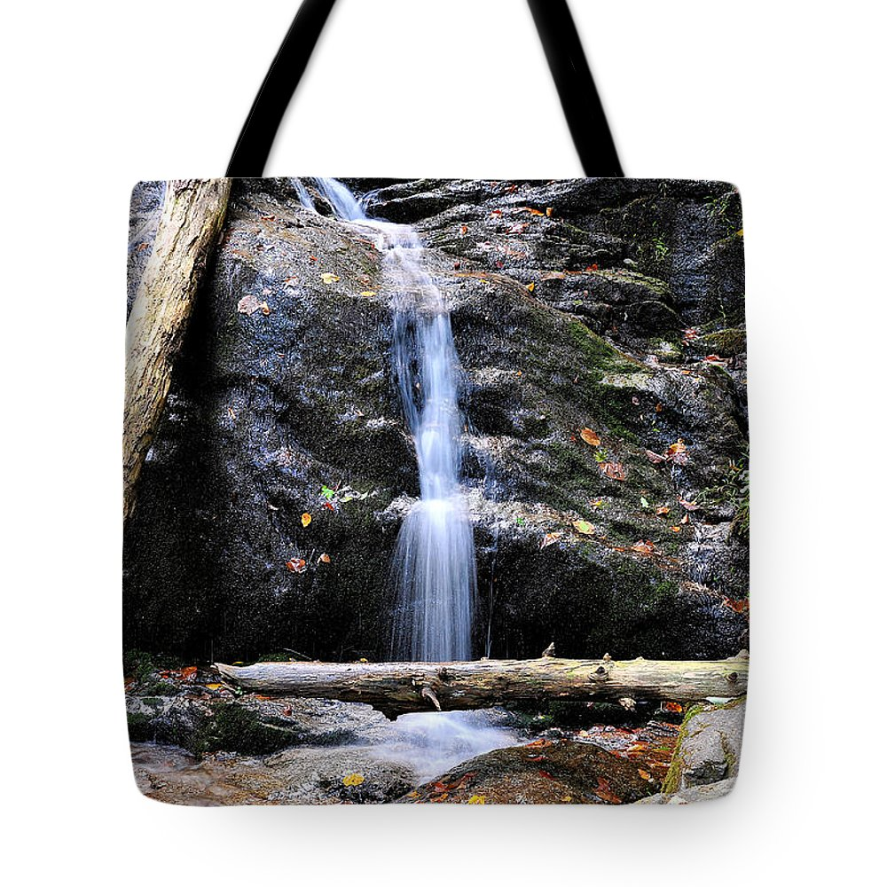 Crabtree Falls Tote Bag featuring the photograph Crabtree Falls In Fall by Todd Hostetter