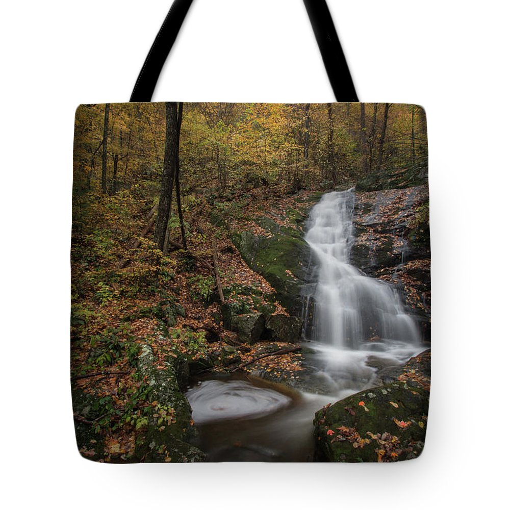 Tote Bag featuring the photograph Crabtree Falls by Steve Hammer