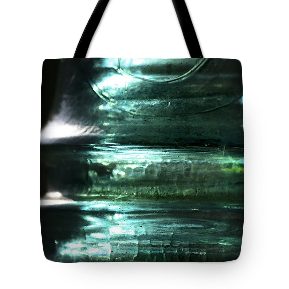 Glass Tote Bag featuring the photograph Cracked Glass by Sari Sauls