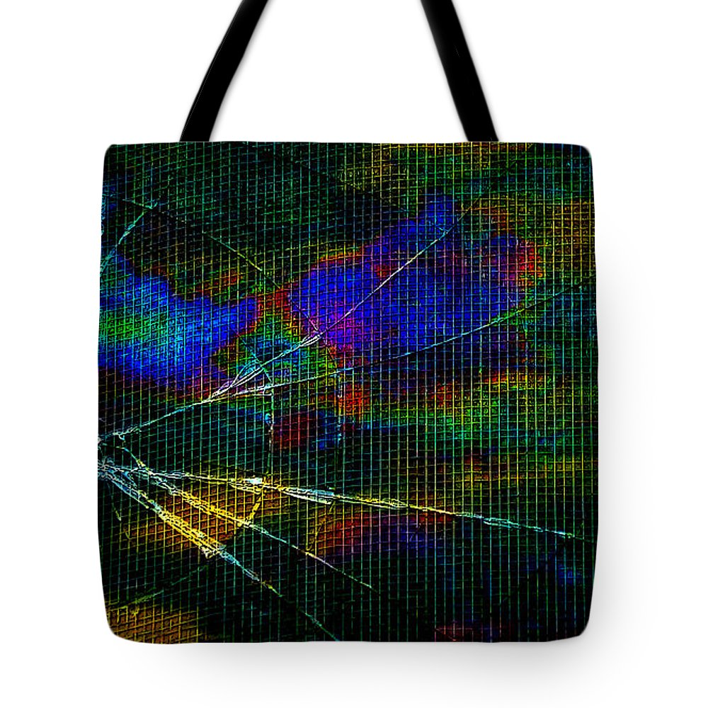 Abstract Tote Bag featuring the photograph Cracked by Randi Grace Nilsberg
