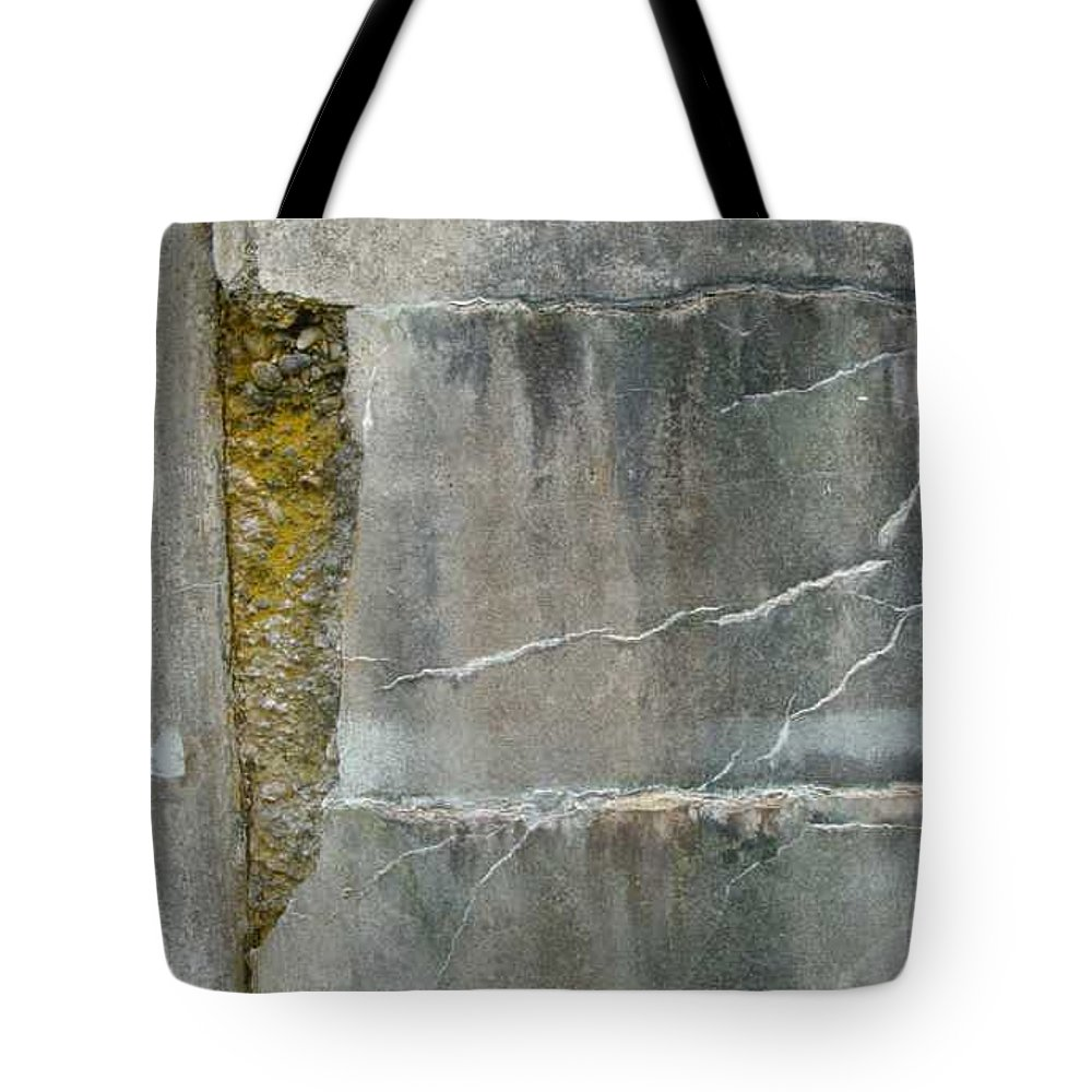 Wall Tote Bag featuring the photograph Cracked Wall by Claudia Stewart