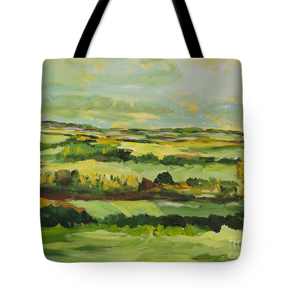 Landscape Tote Bag featuring the painting Cranbrook by Allan P Friedlander