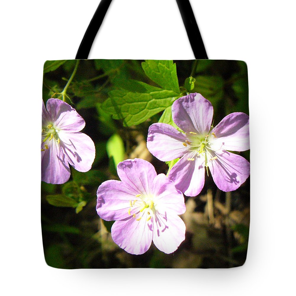 Wild Flowers Tote Bag featuring the photograph Cranesbill by Peggy King