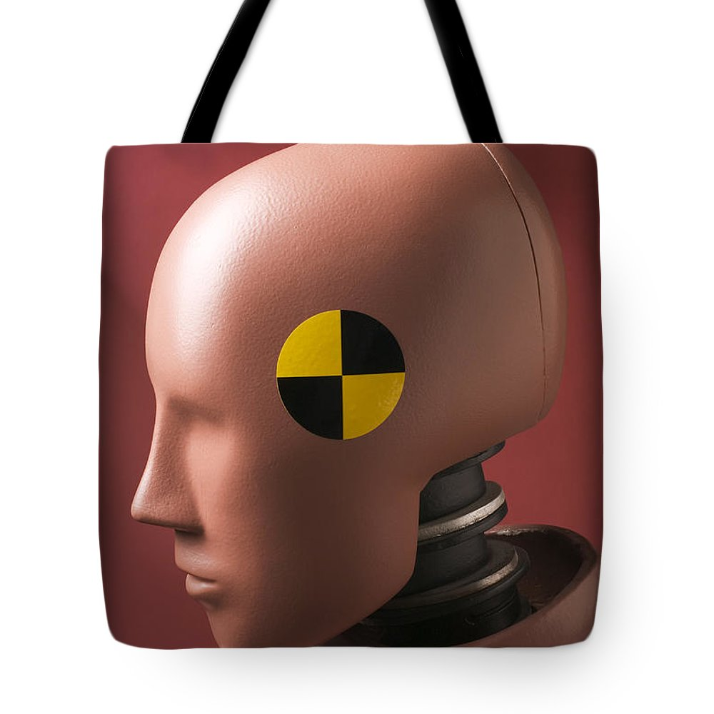 Crash Tote Bag featuring the photograph Crash Test Dummy by Garry Gay