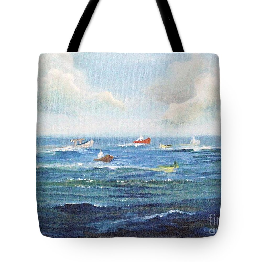 Impressionism Tote Bag featuring the painting Crashboat Beach by Alicia Maury