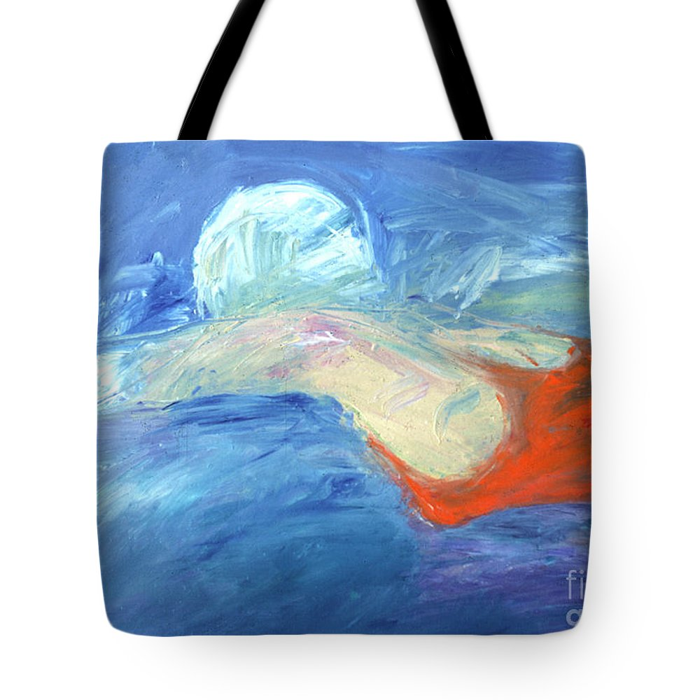 Water Tote Bag featuring the painting Crawl by Lisa Baack