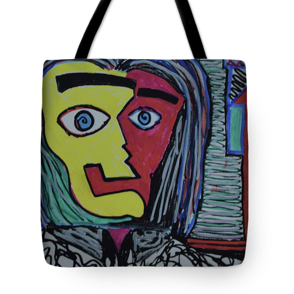 #abstract #fineart #painting Tote Bag featuring the painting Crazy by Aj Watson