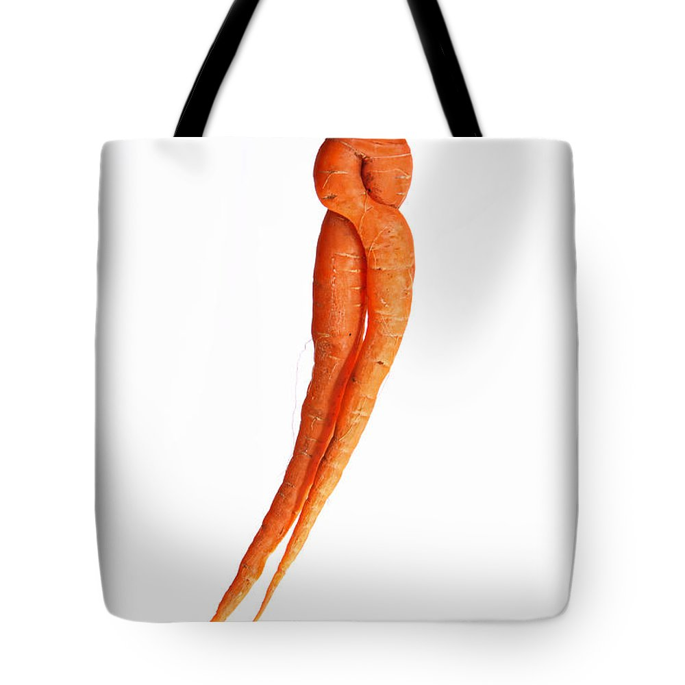 Carrot Tote Bag featuring the photograph Crazy Carrot Fine Art Food Photography by James BO Insogna