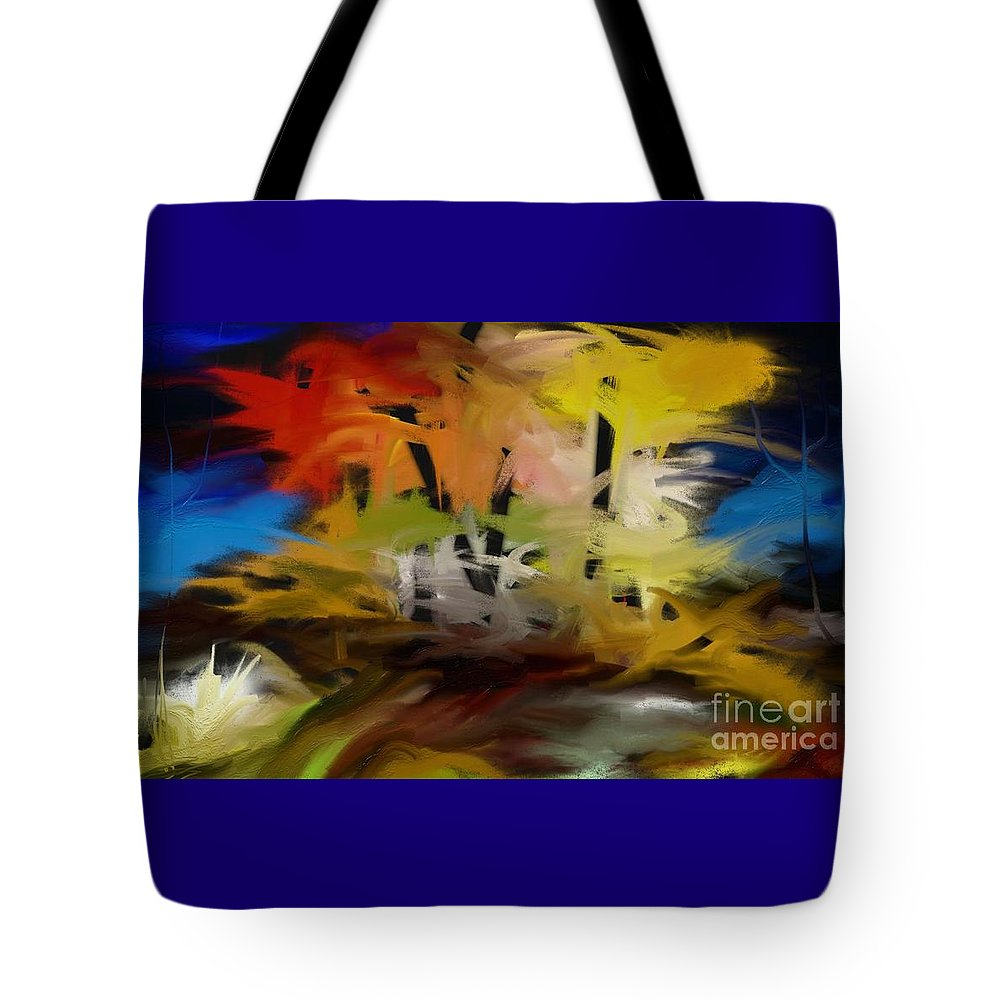 Digital Tote Bag featuring the painting Crazy Nature by Rushan Ruzaick