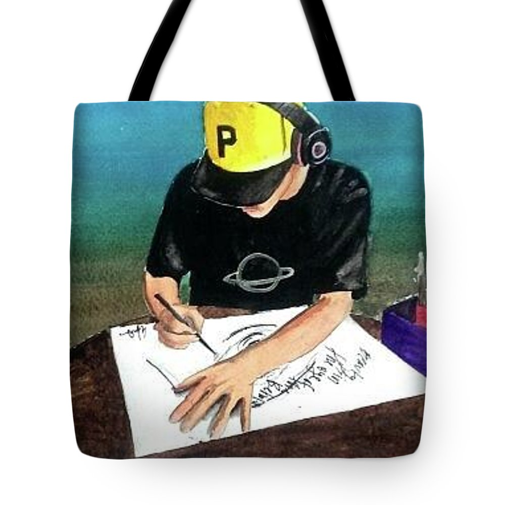 Draw Tote Bag featuring the painting Create by Ellie Carpenter