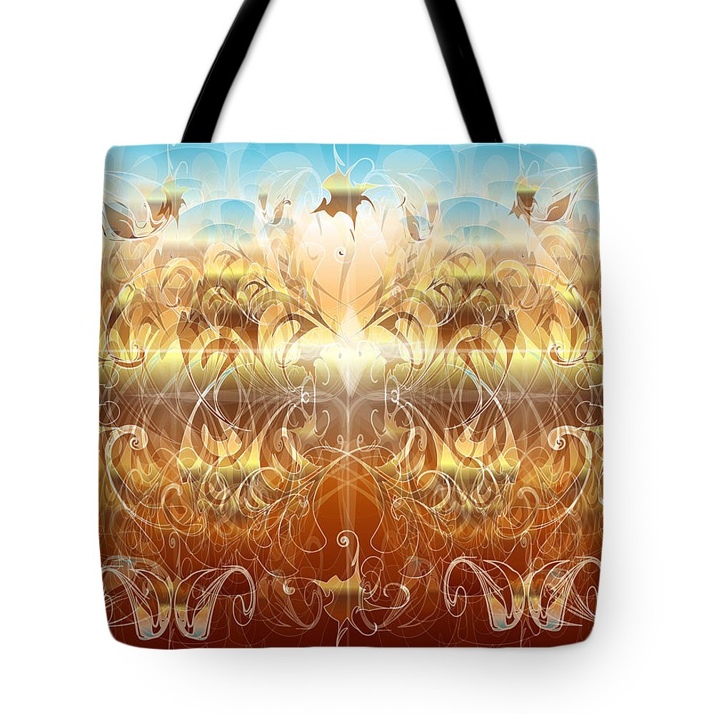 Fantasy Tote Bag featuring the digital art Creation II by George Pasini