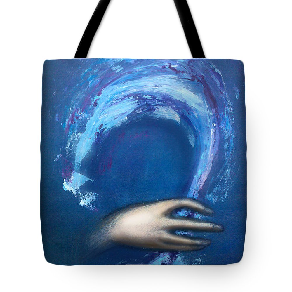 Creative Tote Bag featuring the painting Creative Inspiration by Kevin Middleton